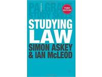 Studying Law (Palgrave Study Skills) Paperback
