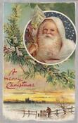 Antique Christmas Postcard Santa