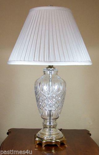 Vintage Lead Crystal Lamp Ebay