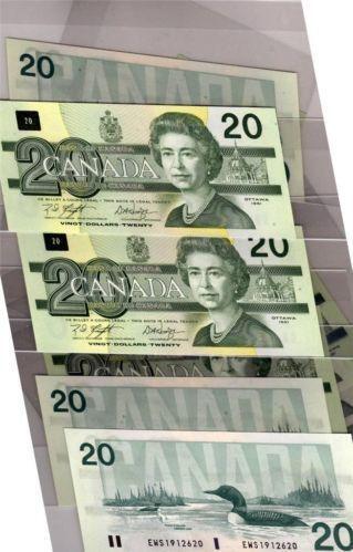 Canada 20 Dollars 1991 Ebay