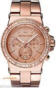 Michael Kors Rose Gold Crystal Watch
