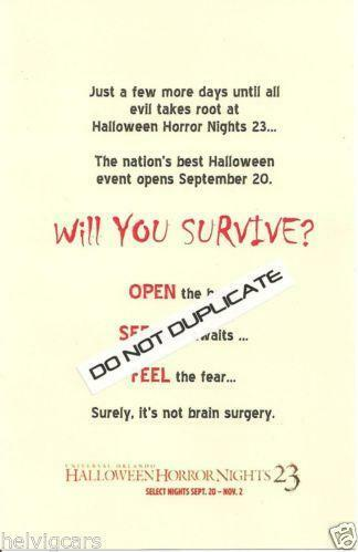 9431c438 Halloween Horror Nights | eBay