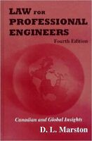 Law for Professional Engineers Hardcover - New