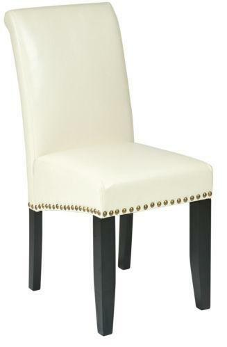 Cream Leather Dining Chairs Ebay
