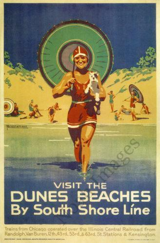 Vintage Beach Poster Ebay