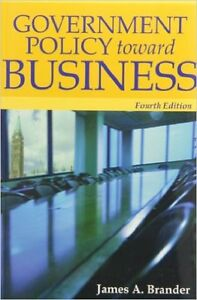 Government Policy towards Business 4th edition