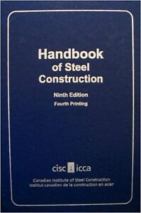 Handbook of Steel Construction, Ninth Edition, Fourth Printing