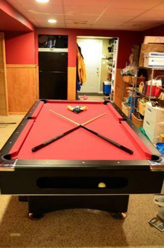 Pool Table New Used Lights Felt Outdoor Covers EBay - How much room for a pool table