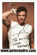 Peter Andre Signed