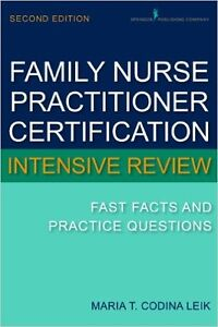 FamilyNurse Practitoner Certification Intensive Review Text Book