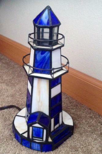 Stained Glass Lighthouse Lamp Ebay