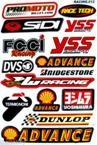 Motocross Sticker Sheets Ebay