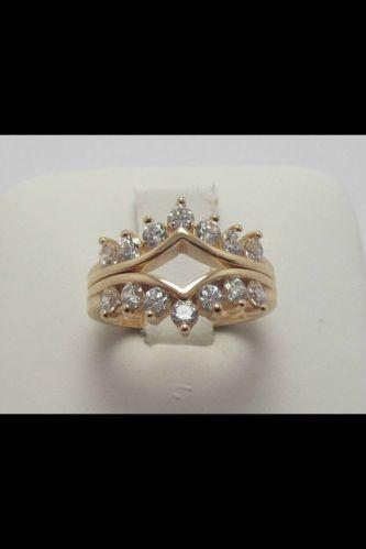Diamonique 14k Gold Ring Qvc Ebay