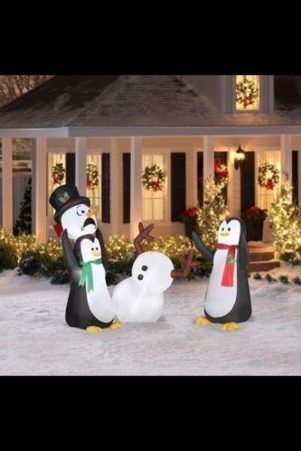 Inflatable Penguin Yard Decor Ebay