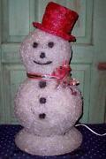 Plastic Light Up Snowman