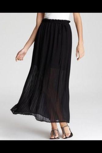 Pleated Silk Maxi Skirt Ebay