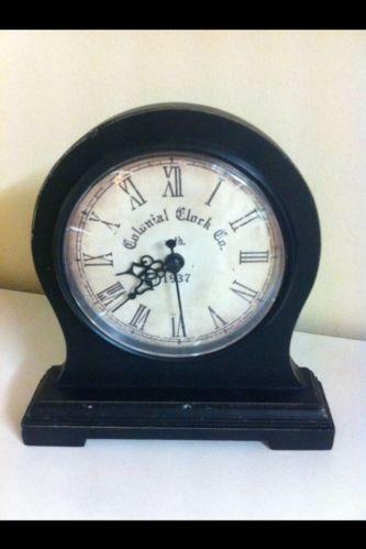 Black Mantel Clock Ebay
