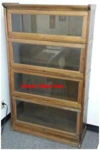 4 Drawer Oak File Cabinet