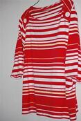 Womens Red and White Striped Shirt