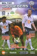 Bolton Wanderers Football Programmes