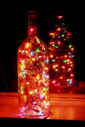 Colored wine bottles ebay for Wine bottle christmas tree frame for sale