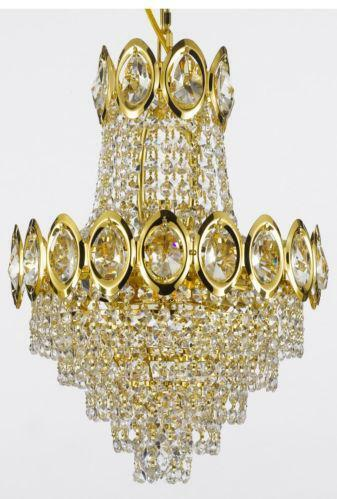 Gold crystal chandelier ebay aloadofball Image collections