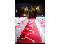 White chair cover hire Merseyside