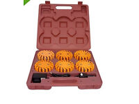 Megaflare 6-Pack, Emergency Recovery Flashing Warning Flare Lights Beacon, Recharges from cab