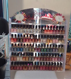 100 Party and Magnetic Nail Polishes and Stand