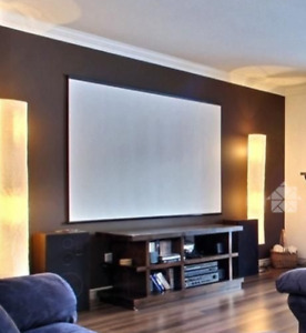"Écran projecteur 80"" Projector screen"