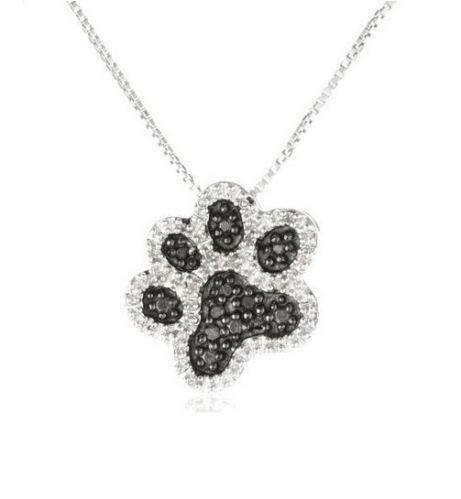 Dog paw necklace ebay aloadofball Gallery