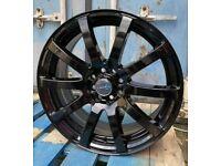 "Ford Fiesta Ka Escort Sierra x4 17"" AW10 Alloy Wheels Gloss Black 4x108"