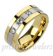 Mens Gold and Silver Rings