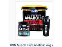 USN Muscle Fuel Anabolic protein powder, 1.3kG packets