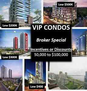 Get Perfect VIP Condos Starting from 200K to 500K !!
