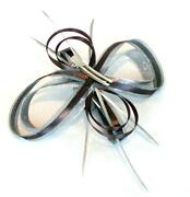 Silver Diamante Fascinator