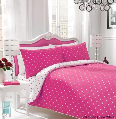 pink polka dot bedding ebay. Black Bedroom Furniture Sets. Home Design Ideas