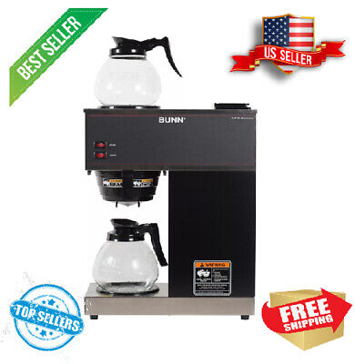Coffee Maker With 2 Glass Carafes Bunn Vpr 12-cup Commercial Pour-over