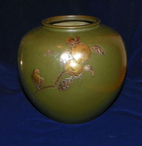 Japanese Bronze Vase Ebay