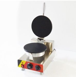 Commercial Electric Stainless Steel Waffle Cone Maker Price:$349