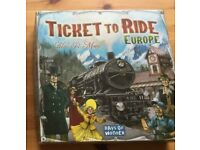 Ticket to Ride Europe full game, with Switzerland expansion board included - £23