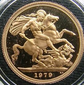 1979 SOLID GOLD FULL SOVEREIGN COIN