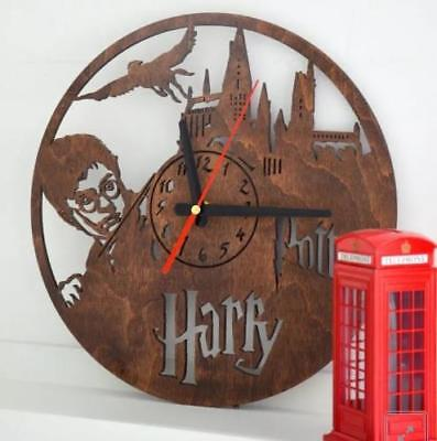 Decorative Wooden Engraved Wall Indoor Silent Clocks Home Gift Rustic Country