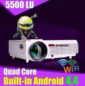 """3D LED 300"""" 5500 lumen Wifi, projector BRAND NEW - Superb Value Bushland Beach Townsville Surrounds Preview"""