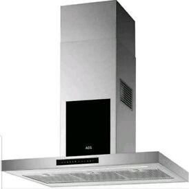 AEG DIK6980SG 90cm Island cooker hood / extractor BRAND NEW