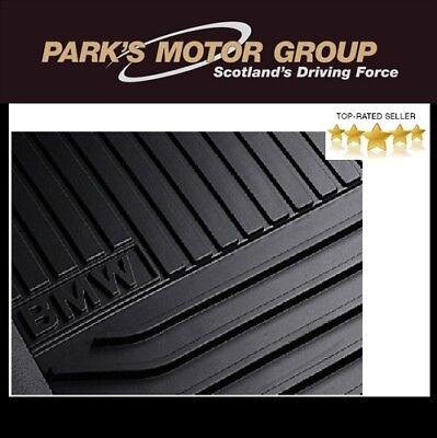 BMW Genuine F10 F11 LCI All Weather Rubber Rear Floor Mats 5 Series 51472346785