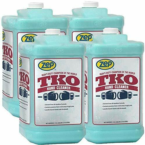 Zep Heavy-Duty TKO Hand Cleaner 128 oz. R54824 (Case of 4) Pump Included