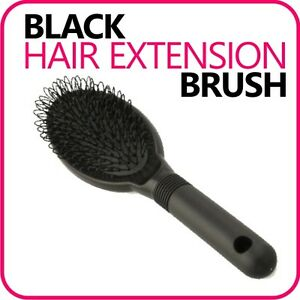 BLACK-Hair-Extension-Hairbrush-Brush-Loop-for-silicone-micro-ring-fusion-bond
