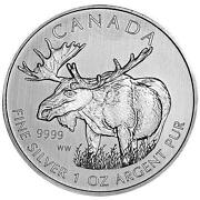 2012 1 oz Silver Canadian Moose