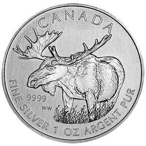 Canada 2012 $5 1 oz Pure Silver Coin Canadian Wildlife Series Moose **NO TAX**